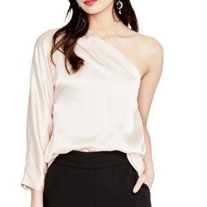 Rachel Roy off the shoulder Champaign blouse